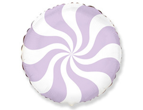 Фольгированный шар Леденец лиловый пастель