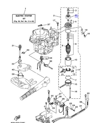 Бендикс Yamaha 25/30лс (689818071200)