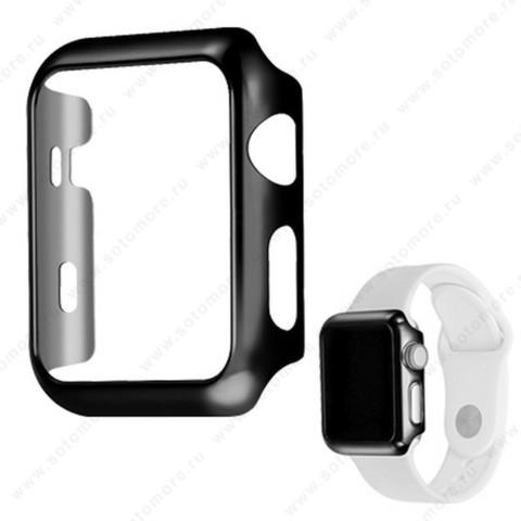 Накладка пластиковая для Apple Watch 42 mm черный