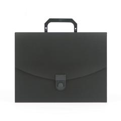 Папка-портфель Attache пластиковая A4 черная (250x370 мм, 1 отделение)