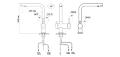 Схема Omoikiri Nagano-BL