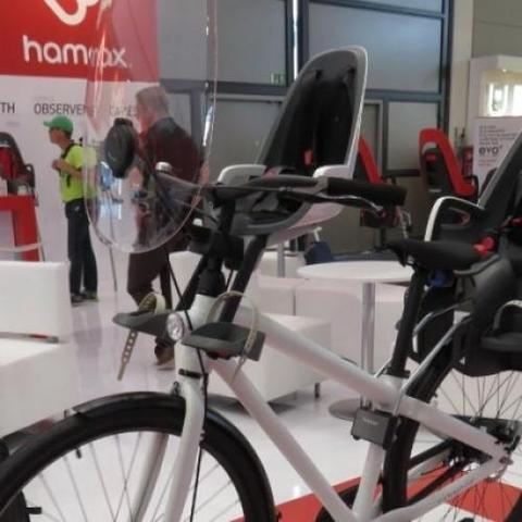 Картинка велокресло Hamax Caress Observer серый/фиолетовый