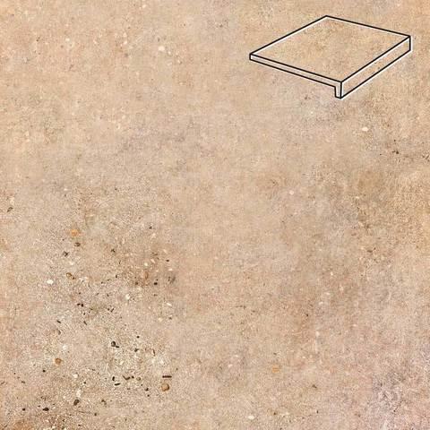 Stroeher - Euramic Stones E 561 agnello 294x115x52x8 артикул 4832 - Клинкерная ступень - прямой угол