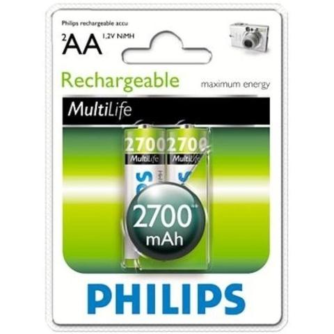 Аккумуляторы Philips MultiLife Ni-MH R6 (2700mAh) 2шт.