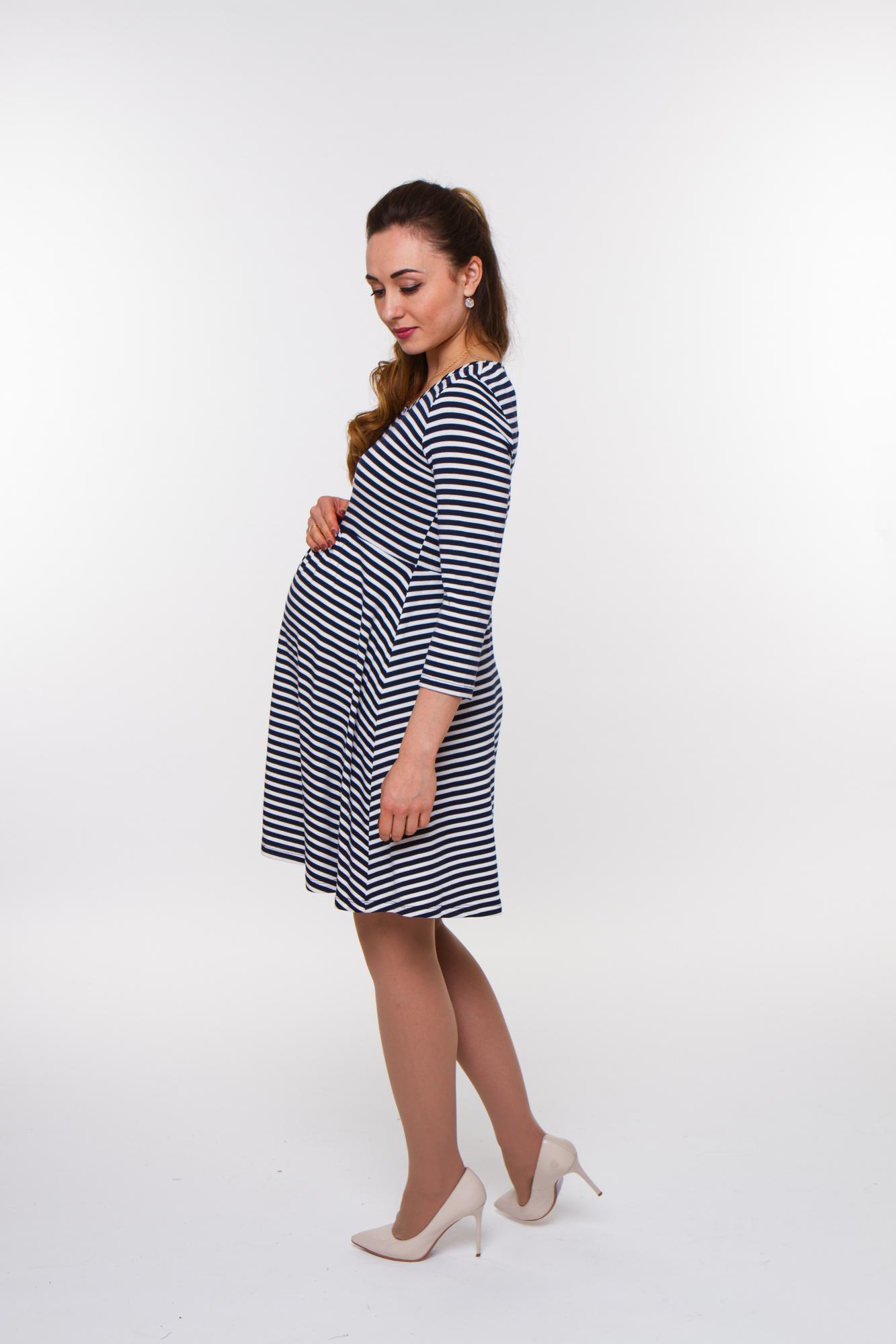 Туника для беременных 09842 синий