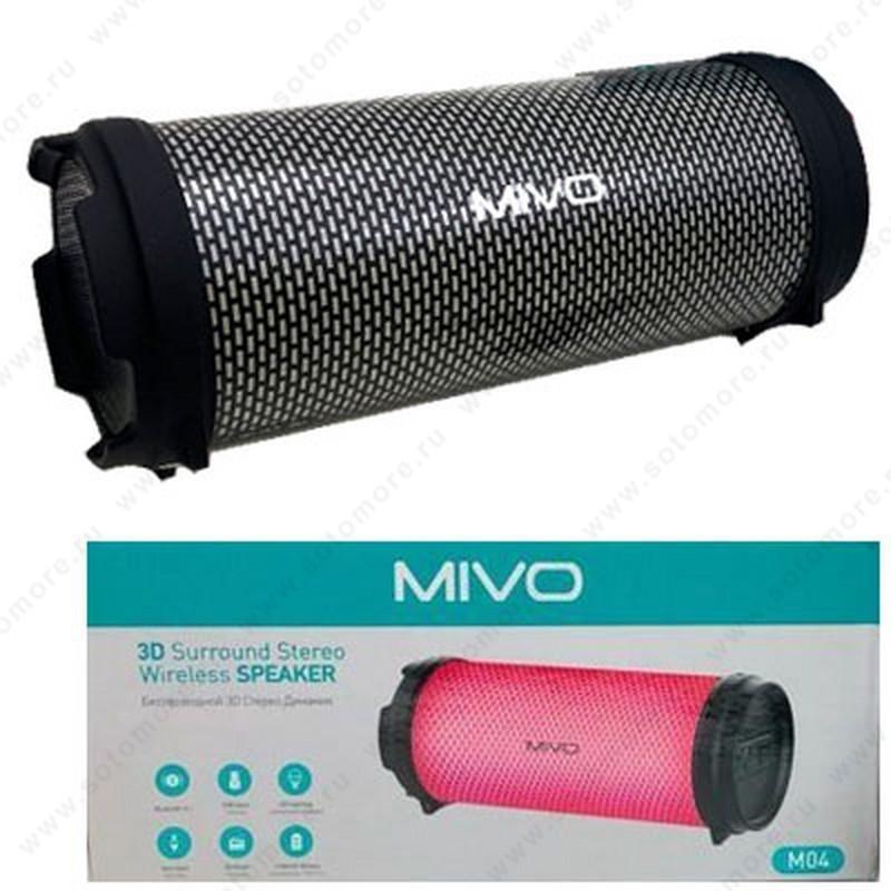 Акустическая система Mivo M04 со светомузыкой черный