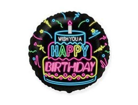 Фольгированный шар WISH YOU A HAPPY BIRTHDAY