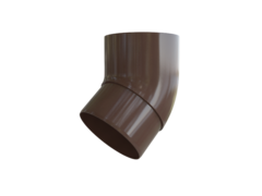 Колено трубы коричневое 45° пластик