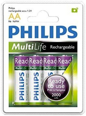 Аккумуляторы Philips Ready to Use Ni-MH R06 (2000mAh) 2шт.
