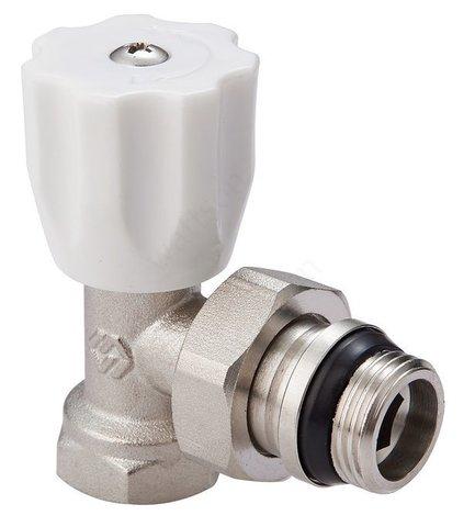 Вентиль радиаторный регулировочный с самоуплотняющимся кольцом угловой 1/2