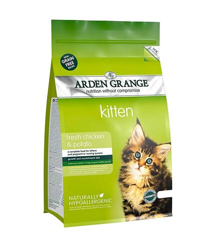 Arden Grange Kitten корм беззерновой для котят с Курицей и картофелем 400 г