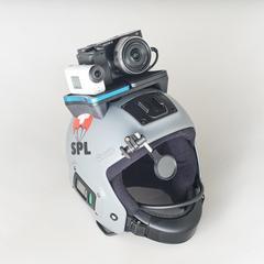 Пример возможного размещения фото-видеокамер на шлем FUEL