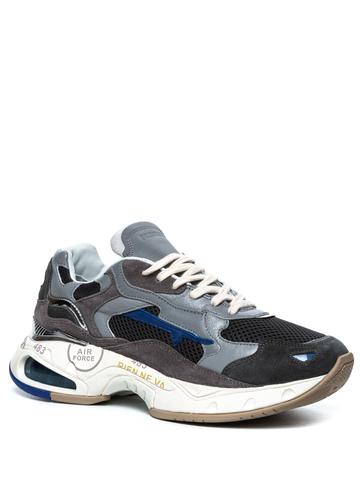 Комбинированные кроссовки Premiata Sharky  022 на шнуровке