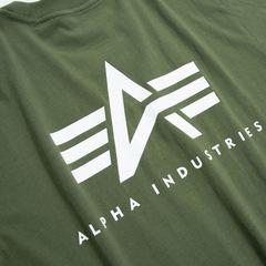 Футболка Alpha Industries Small Logo Olive (Зеленая)