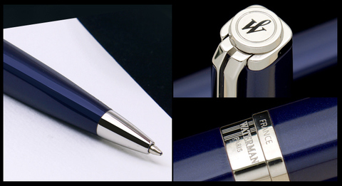 Шариковая ручка Waterman Exception, цвет: Slim Blue ST, стержень: Mblue123