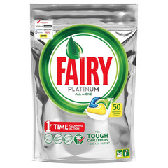 Капсулы для посудомоечных машин Fairy Platinum All in One (50 штук в упаковке)