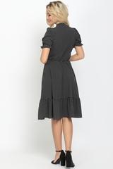 """<p>Платье из легкого штапеля сделает Вас женственной и недосягаемой. Отрезное по талии на резинке, юбка """"полусонце"""" с воланом, ворот """"бант"""", рукав до локтя на резинке. Отличное решение для романтичной особы.</p>"""