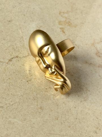 Кольцо Ява, позолота
