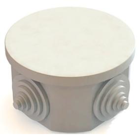 Распаячная коробка ОП D85х40мм, крышка, IP54, 4вх. инд. штрихкод TDM