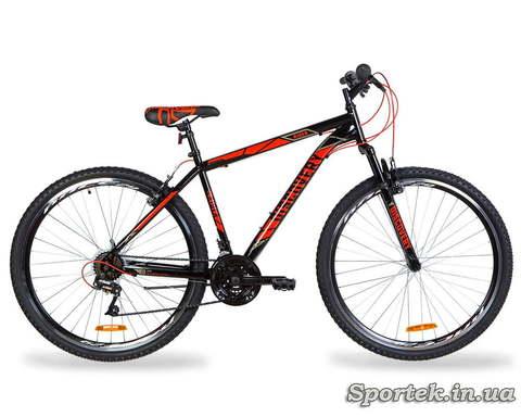 Гірський універсальний велосипед Discovery Rider AM Vbr колеса 29 - чорно-червоний