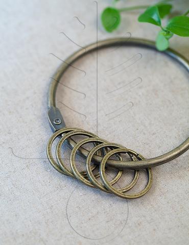 Кольцо для ключей античная латунь