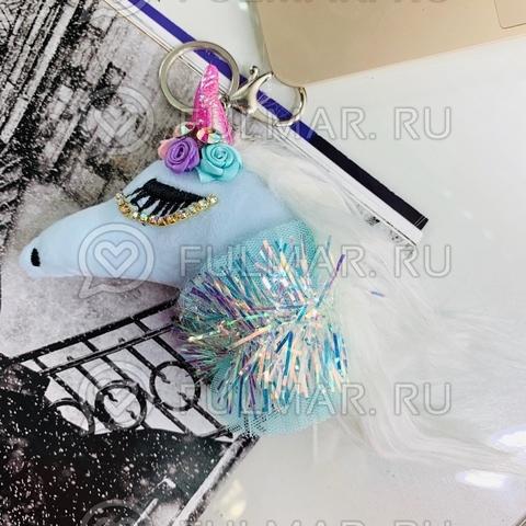 Волшебный единорог-брелок игрушка Голубой