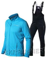 Женский утеплённый лыжный костюм Nordski Motion Breeze/Black с высокой спинкой
