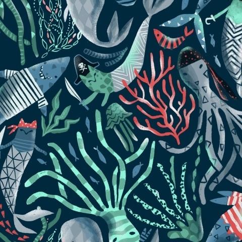 Морские пираты коты, акулы, киты