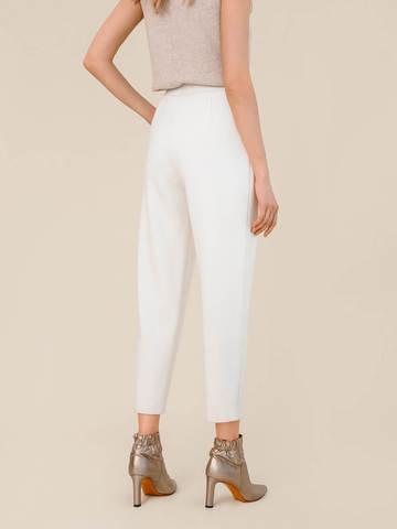 Женские брюки молочного цвета из 100% шерсти - фото 3