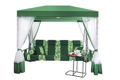 Беседка Премиум со столиком Зеленая, 2017-БС-61