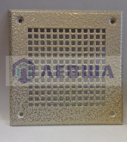 Решётка 150х150 мм, белый антик, перфорация крупный квадрат