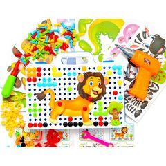 Конструктор мозаика Creative Portable Box с шуруповертом 198 деталей