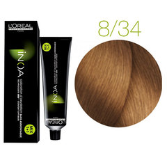 L'Oreal Professionnel INOA 8.34 (Светлый блондин золотистый медный) - Краска для волос