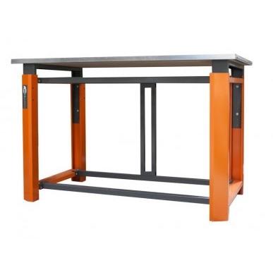 Усиленный металлический стол для гаража. Глубина столешницы 750 мм. Серия ТВК.