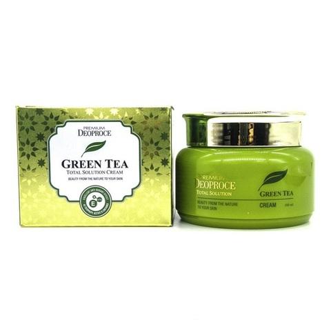 Крем на основе зеленого чая PREMIUM DEOPROCE GREENTEA TOTAL SOLUTION CREAM 100 мл