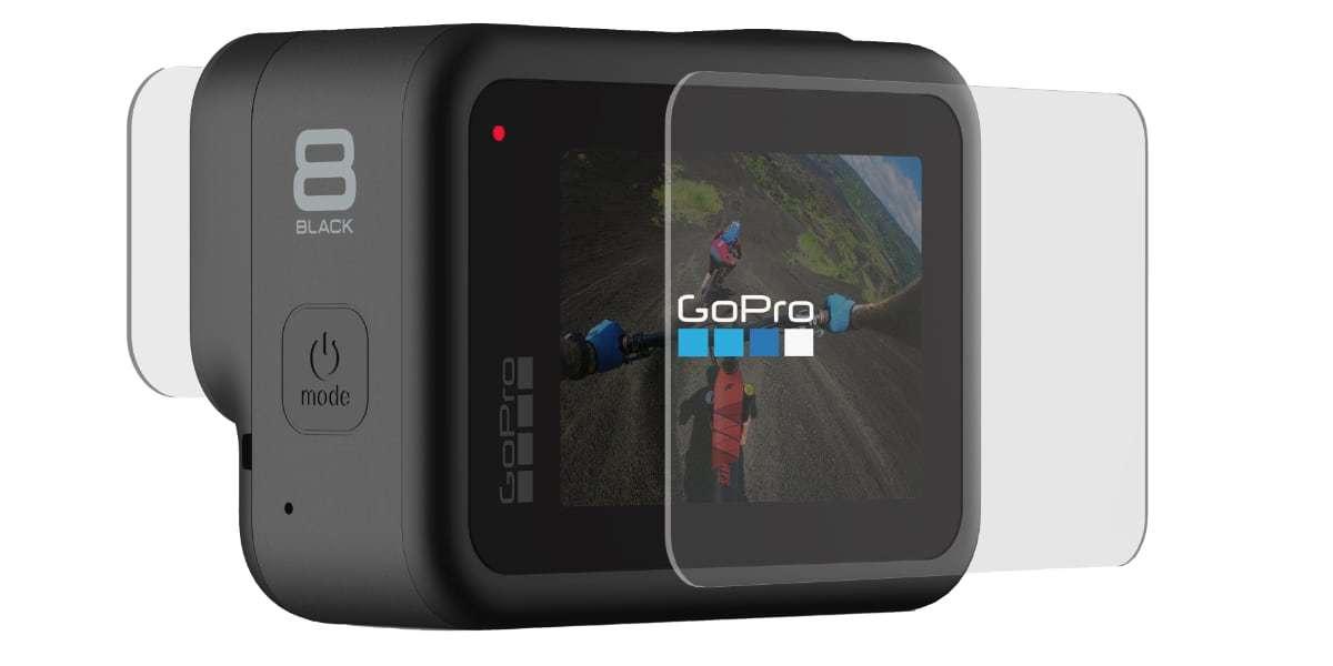 Защитные стекла для ЖК экрана GoPro HERO8 Glass Screen Protector AJPTC-001 вид сзади