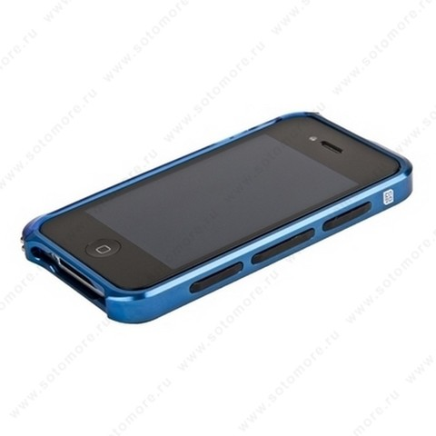 Бампер ELEMENT CASE Vapor 4 алюминиевый для iPhone 4s/ 4 синий/синий