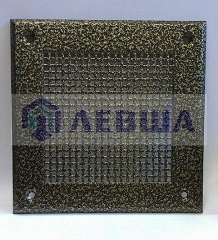 Решётка 150х150 мм, бронза, перфорация мелкий квадрат