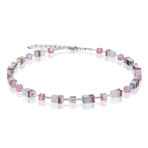 Колье Coeur de Lion 4017/10-1920 цвет розовый, серый, белый