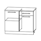 Кухня Капля 3D Шкаф нижний С 1000