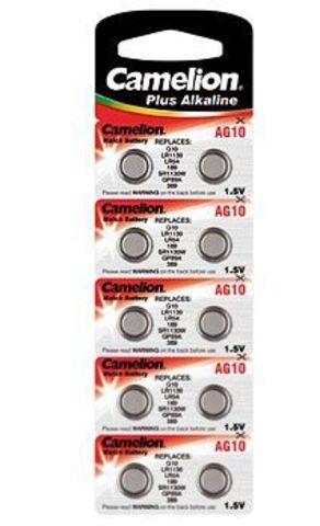 Батарейки Camelion AG 10 / 10 BL