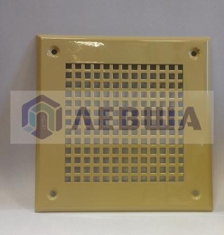 Решётка 150х150 мм, золото, перфорация крупный квадрат
