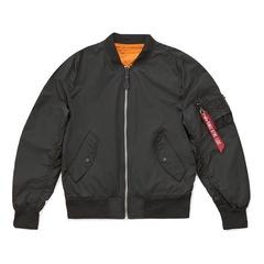 Бомбер Alpha Industries L-2B Scout Black/Emergency Orange (Черный/Оранжевый)