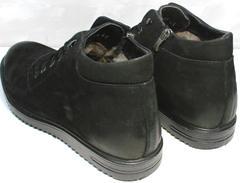 Зимние ботинки мужские кожаные с мехом Luciano Bellini 71783 Black.