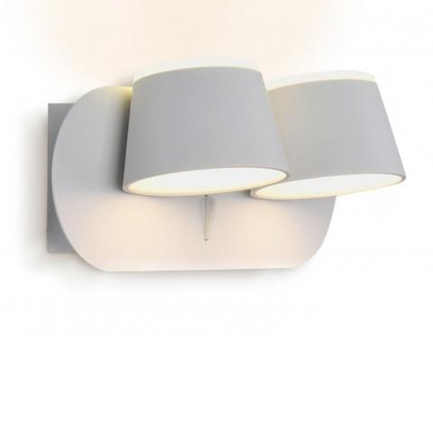Настенный светодиодный светильник Ambrella FW171/2 WH/S белый/песок LED 3000K 20W 230*100*140