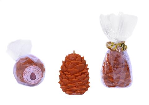 Свеча шишка оранжевая