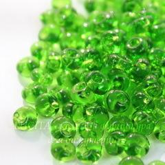 50430 Бисер Preciosa Дропс (Drops) 5/0 зеленый-травяной прозрачный