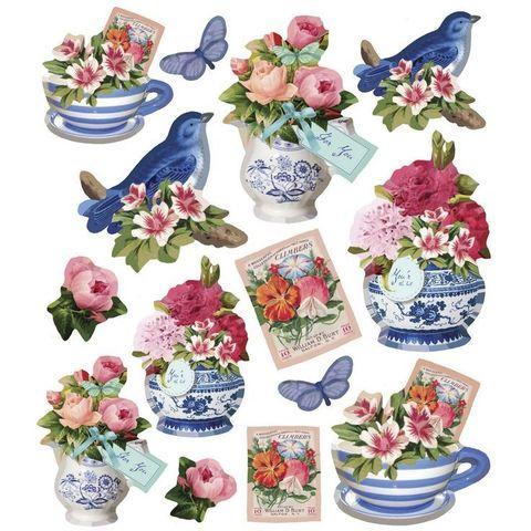 Печать на сахарной бумаге, Набор цветы 9