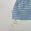 Шапочка голубая в полоску из тонкой шерсти мериноса