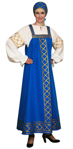 Русский народный костюм Ольга голубой